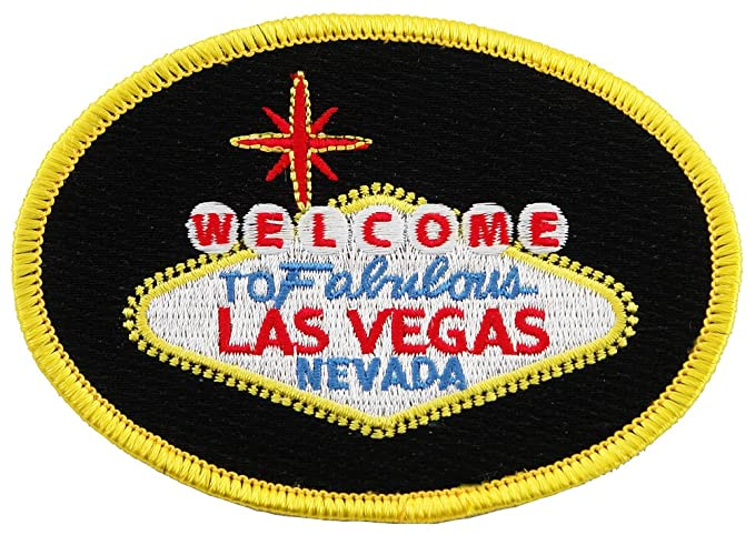 Welcome To Fabulous Las Vegas Sign Embroidered Patch Iron On Casino