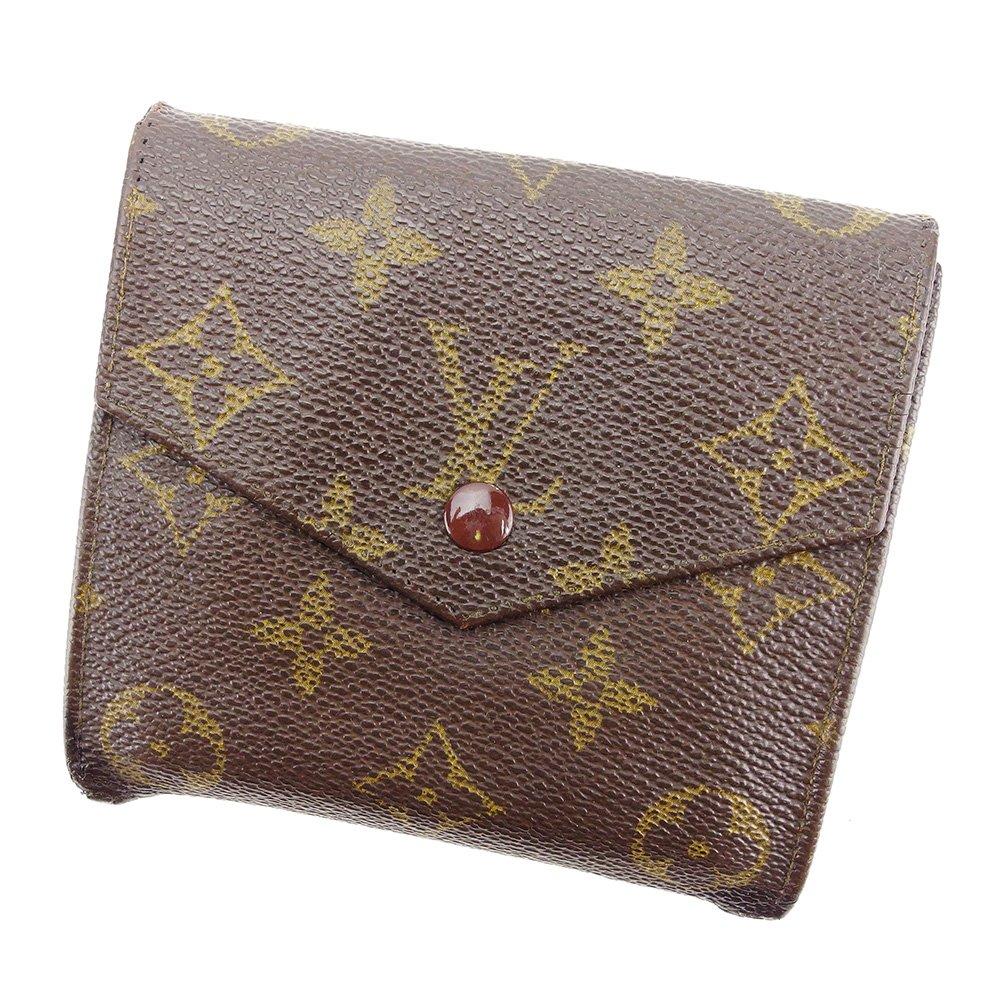 (ルイ ヴィトン) Louis Vuitton Wホック 財布 廃盤レア ブラウン ポルトモネビエ(旧タイプ) モノグラム メンズ可 中古 P658   B075GTQ4C8