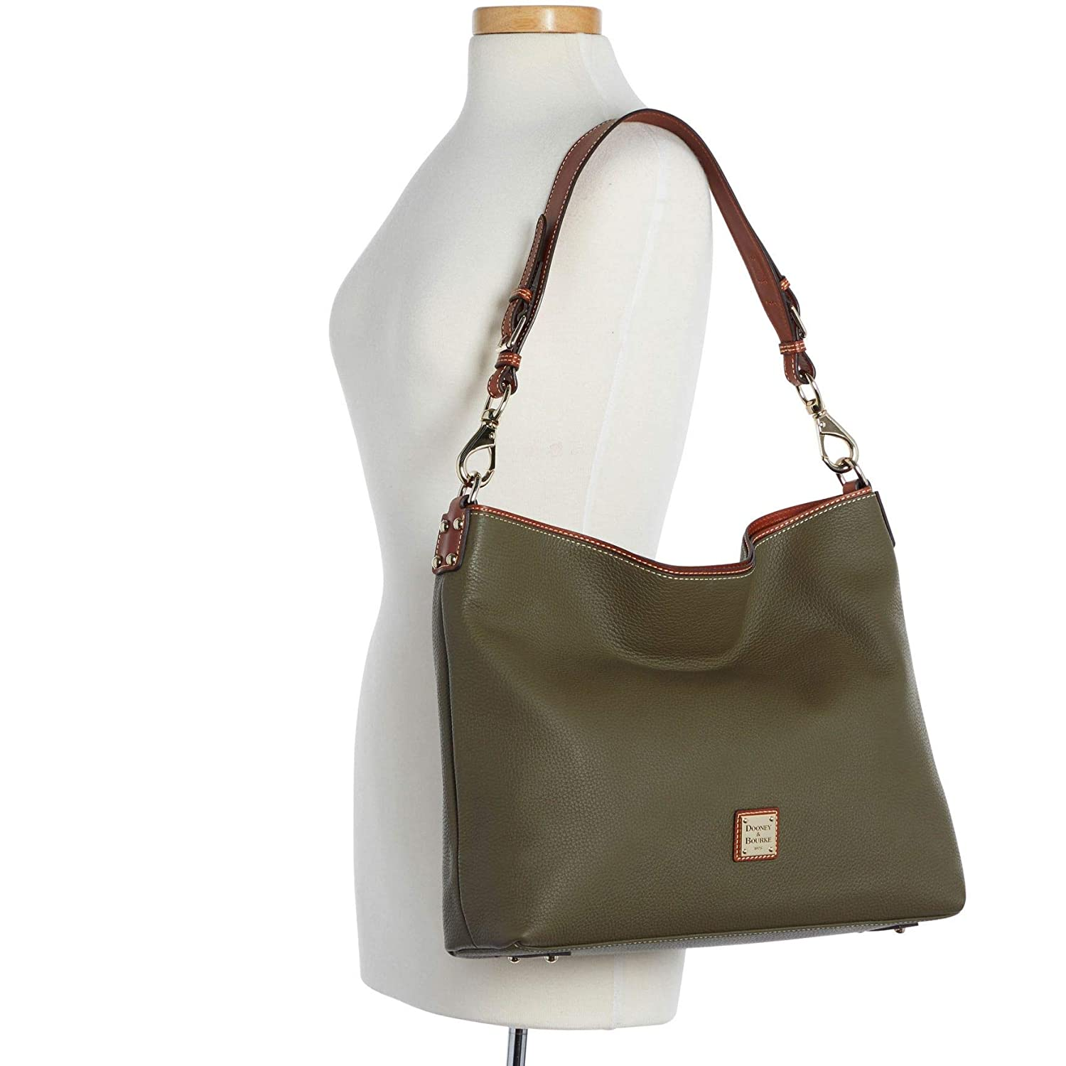 3e1f410de6 Dooney & Bourke Pebble Grain Extra Large Courtney Sac Bag Olive: Handbags:  Amazon.com