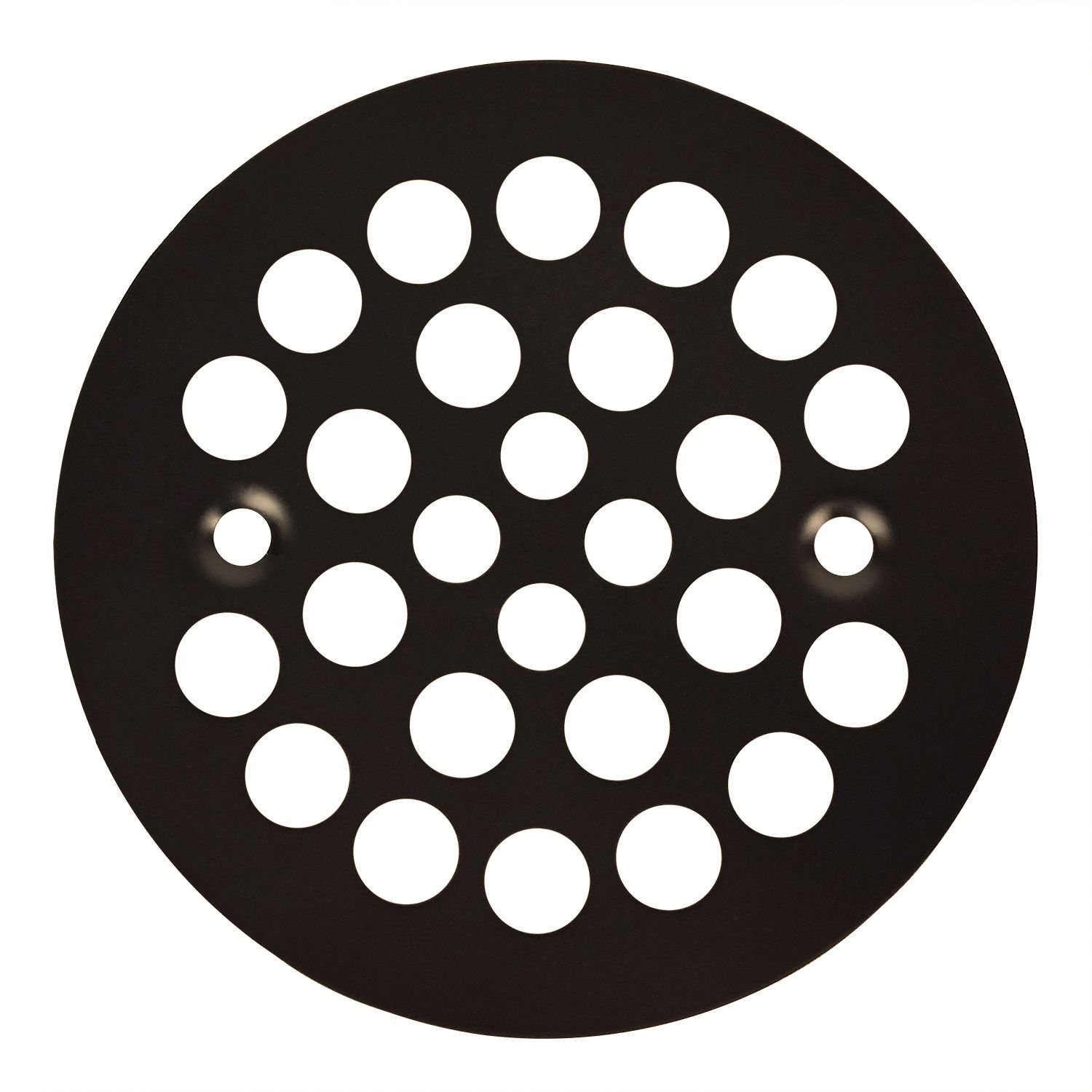 Oil Rubbed Bronze Round Shower Grate Drain 4-1/4'' Replacement Cover