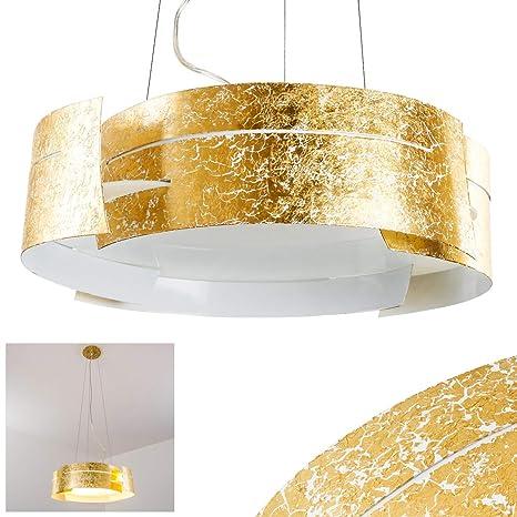Lámpara de techo Novara, color dorado, 3 x E27 60W: Amazon ...