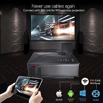 Mini Proyector LED Portátil,BlitzWolf Projector WiFi 1200 Lúmenes ...
