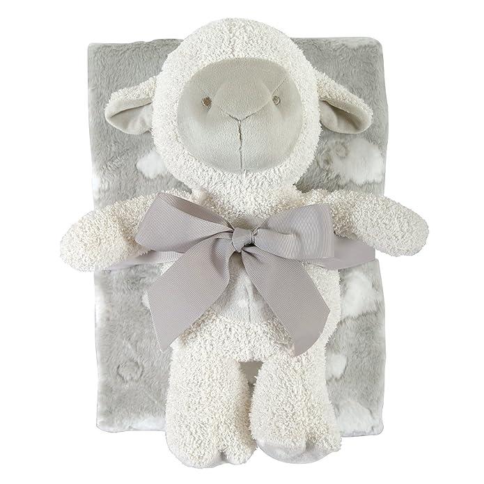 Stephan Baby 120837 Gray Lamb Blanket Toy Set