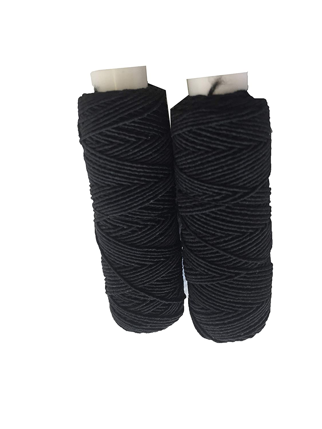 Shirring Shearing Elastic Thread 20 METRE SPOOLS Pack of 2 REELS Sewing Craft (Black & Air Force Blue) The Trimming Department