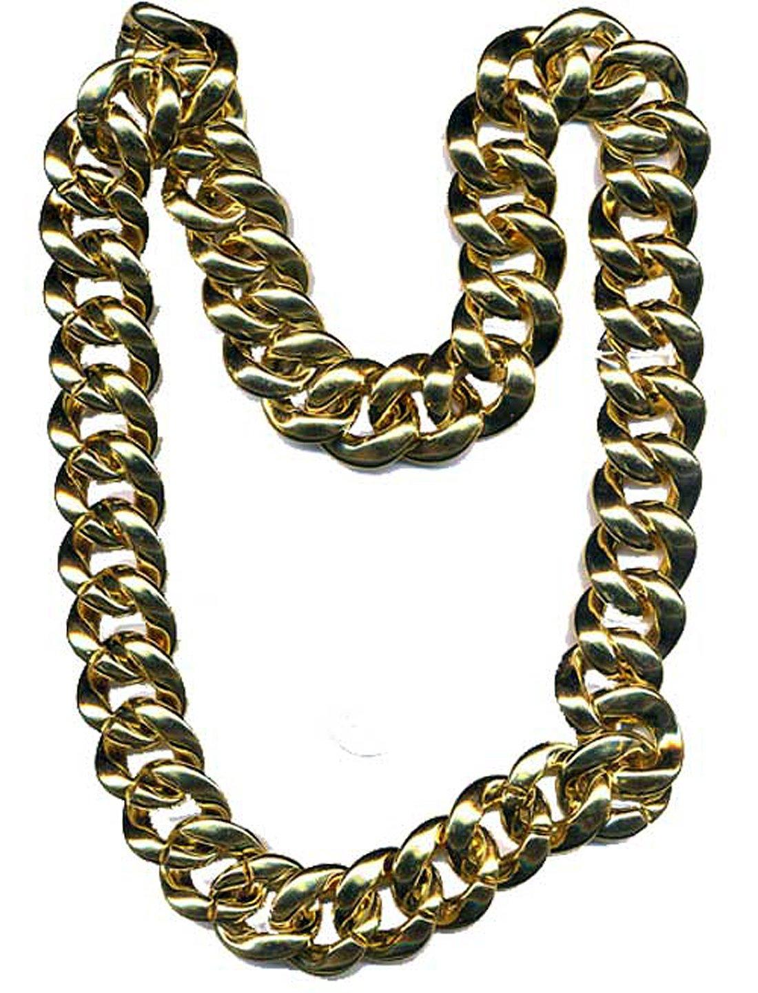 npchn (Gold) Pimp Necklace Rapper Bling 36''