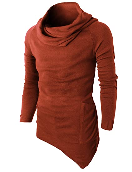H2h Mens Casual Slim Fit Pullover Knitted Turtleneck Sweaters Long