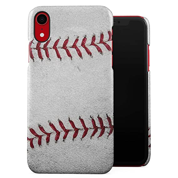 designer fashion 45262 9b895 Outside Team Game Realistic Leather Official Baseball Ball Pattern Print  Plastic Phone Snap On Back Case Cover Shell for iPhone Xr