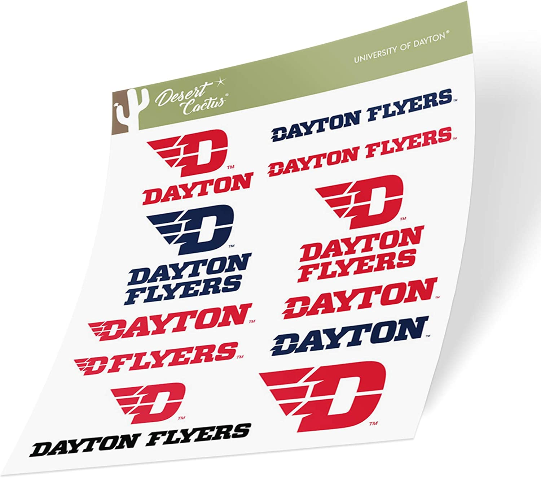 University of Dayton Flyers NCAA Sticker Vinyl Decal Laptop Water Bottle Car Scrapbook (Type 2 Sheet)