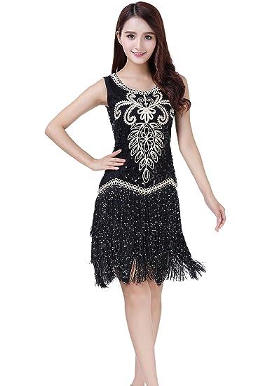 Astage Flapper Dresses 1920s Fringed Gatsby Dress Vintage Classy