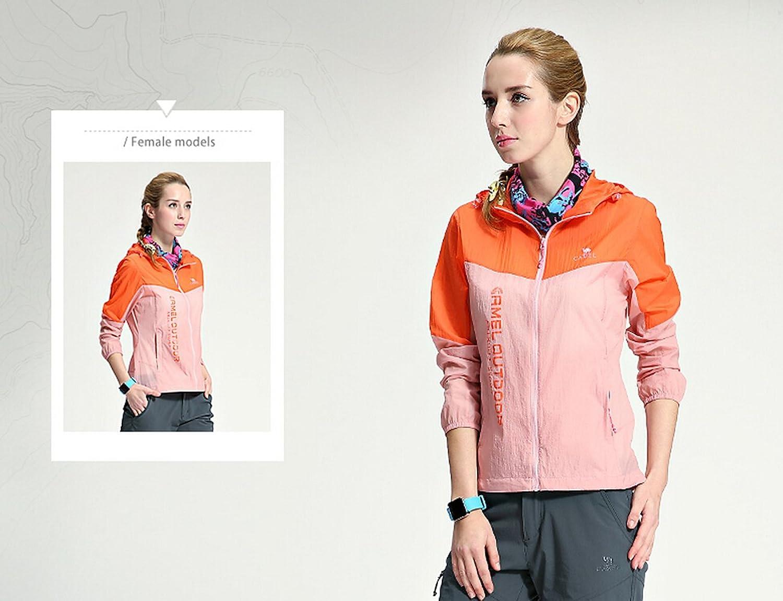 Camel Women's Super Lightweight Jacket Windbreaker Waterproof Quick Dry Skin Coat