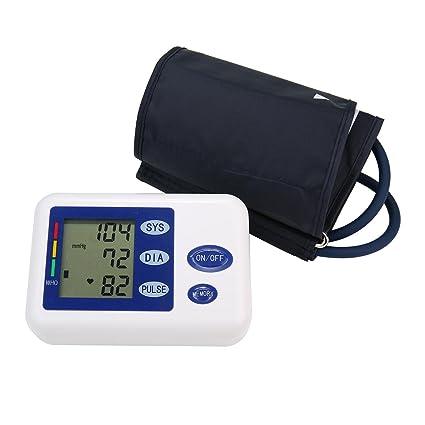 niceeshop (TM) Digital brazo Tensiómetro con medidor de frecuencia cardíaca y manguito
