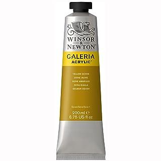 Winsor & Newton Galeria Acrylic Paint, 200ml tube, Yellow Ochre
