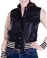 Ladies Black Hooded Long Sleeve Baseball Jacket