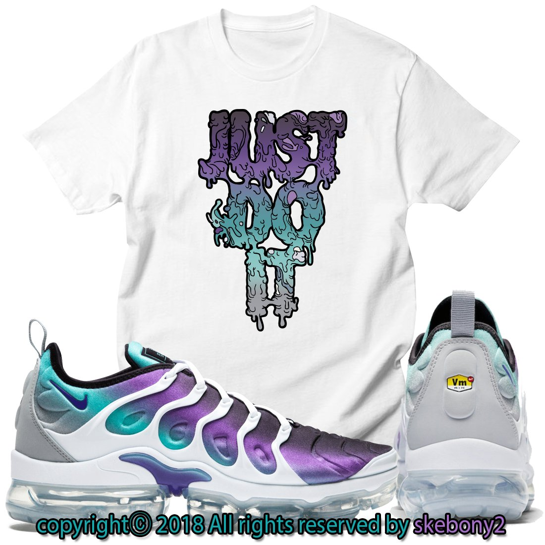 50444fa3293ff Custom T Shirt Matching Nike AIR Vapormax Plus AVP 1-41-25 at Amazon ...