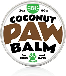 YAY PET Dog Paw Balm Wax Soother & Moisturizer Cream with Natural Food-Grade Coconut Oil, Organic Shea Butter & Beeswax - 2 oz - Healing Protector for Cracked Dog Paws, Snout & Elbows