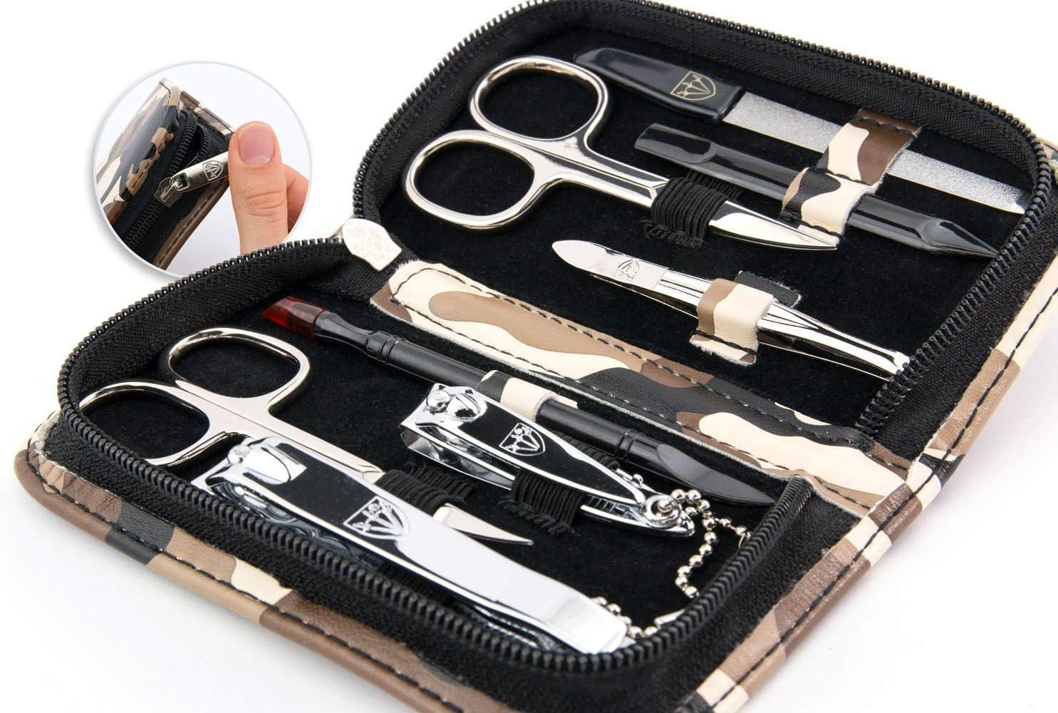 3 Swords Germany - Set para el cuidado de las uñas ´Salamanca` de viaje con estuche para manicura y pedicura - Calidad de marca by 3 Swords (7667): Amazon.es: Belleza