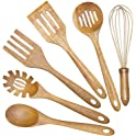 6-Pieces AIUHI Wooden Cooking Utensils Set