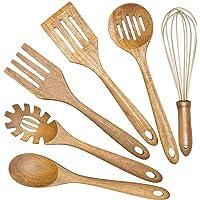 6-Pieces AIUHI Wooden Cooking Utensils Set