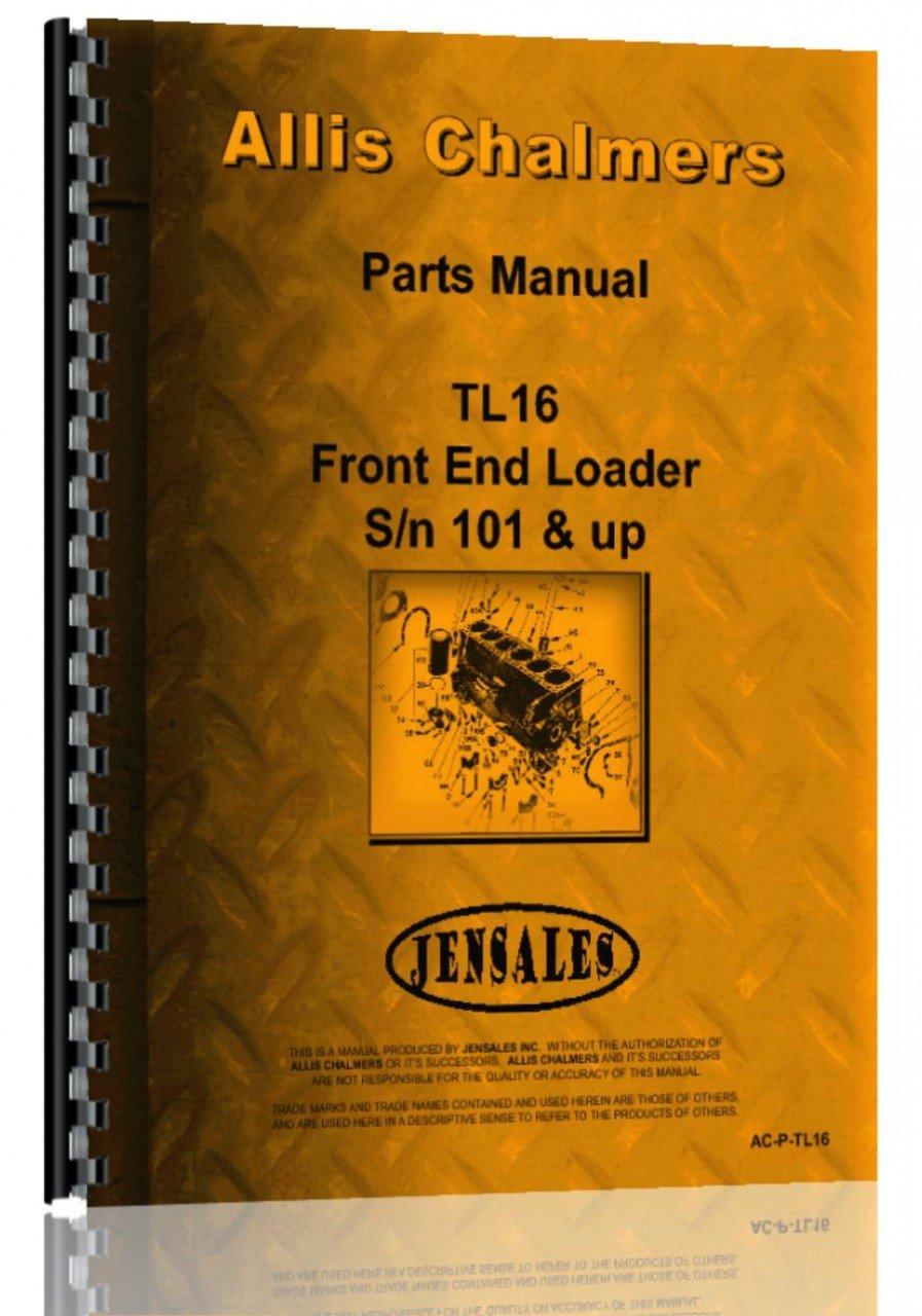 Allis Chalmers TL-16 Wheel Loader Parts Manual ebook