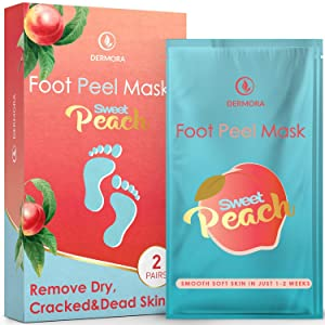 Foot Peel Mask - 2 Pack - For Cracked Heels, Dead Skin & Calluses - Make Your Feet Baby Soft- Removes & Repairs Rough Heels, Dry Toe Skin - Exfoliating Peeling Natural Treatment