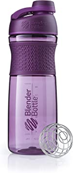 BlenderBottle SportMixer Shaker Garrafa perfeita para shakes de proteína e pré-treino, 800 ml, ameixa: Amazon.com.br: Cozinha