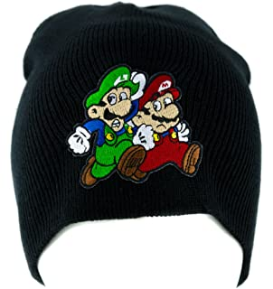 4126d939c57 Mario and Luigi Running Beanie Knit Cap Alternative Clothing Super Mario  Bros.
