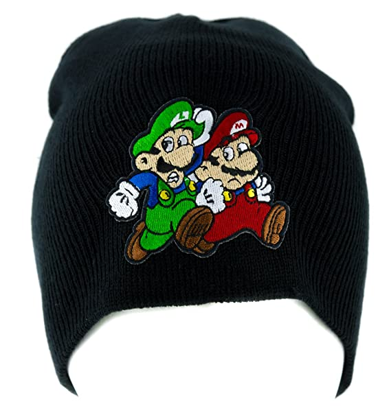 0bea4d23dc4 Image Unavailable. Image not available for. Color  Mario and Luigi Running Beanie  Knit Cap Alternative Clothing Super Mario Bros.