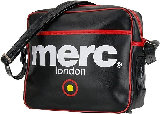 BLACK MENS MERC LONDON TARGET MESSENGER FASHION AIRLINE BAG