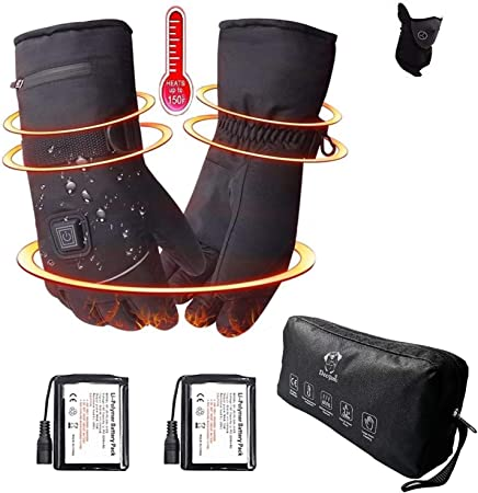 Electric Heated Gloves Cold Winter Battery Operated Hand Warmer Heated Gloves UK