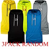 HASIDING 3 Pack Mens Sleeveless Hoodie Fitness Tank