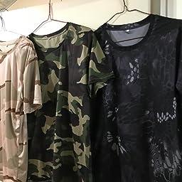 Amazon Stalk 最新カラー13種類 迷彩柄 半袖 Tシャツ ストレッチ メッシュ ミリタリー サバゲー 三色カモ L サバイバルゲーム用装備 衣料 通販