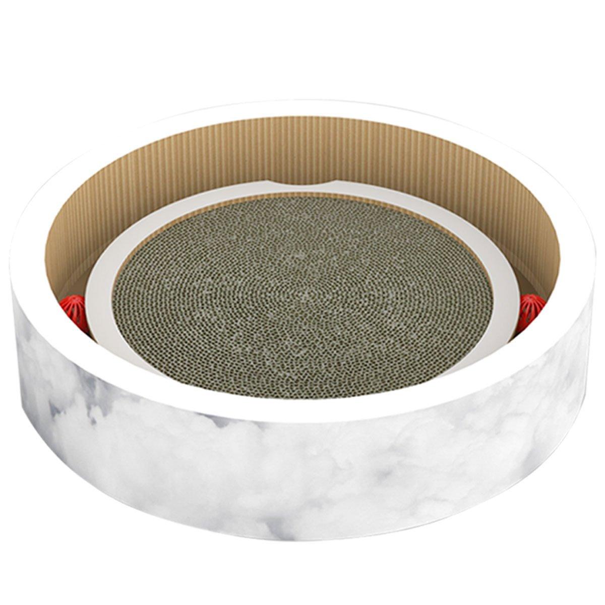 pidan Yoyo Premium Cardboard Scratcher Lounge, White by pidan