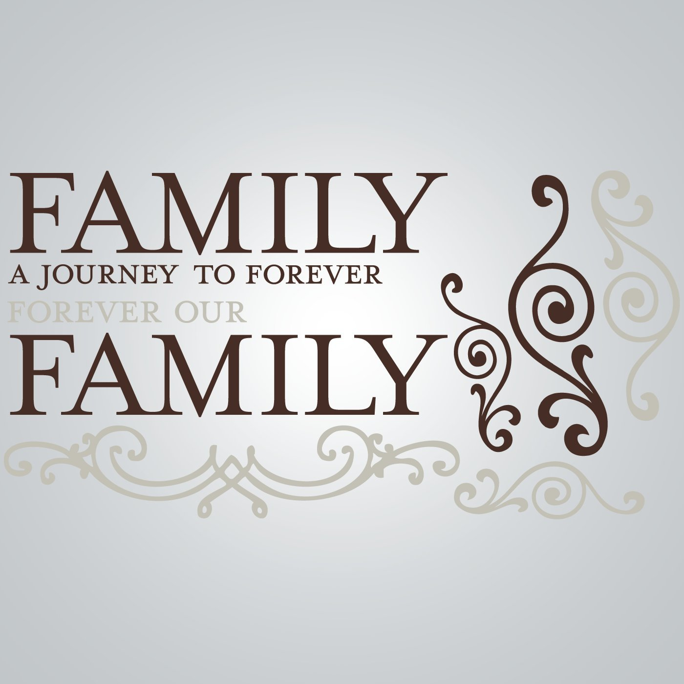 Brown//Taupe Stick DCWV Wall Art Family Journey To Forever Peel