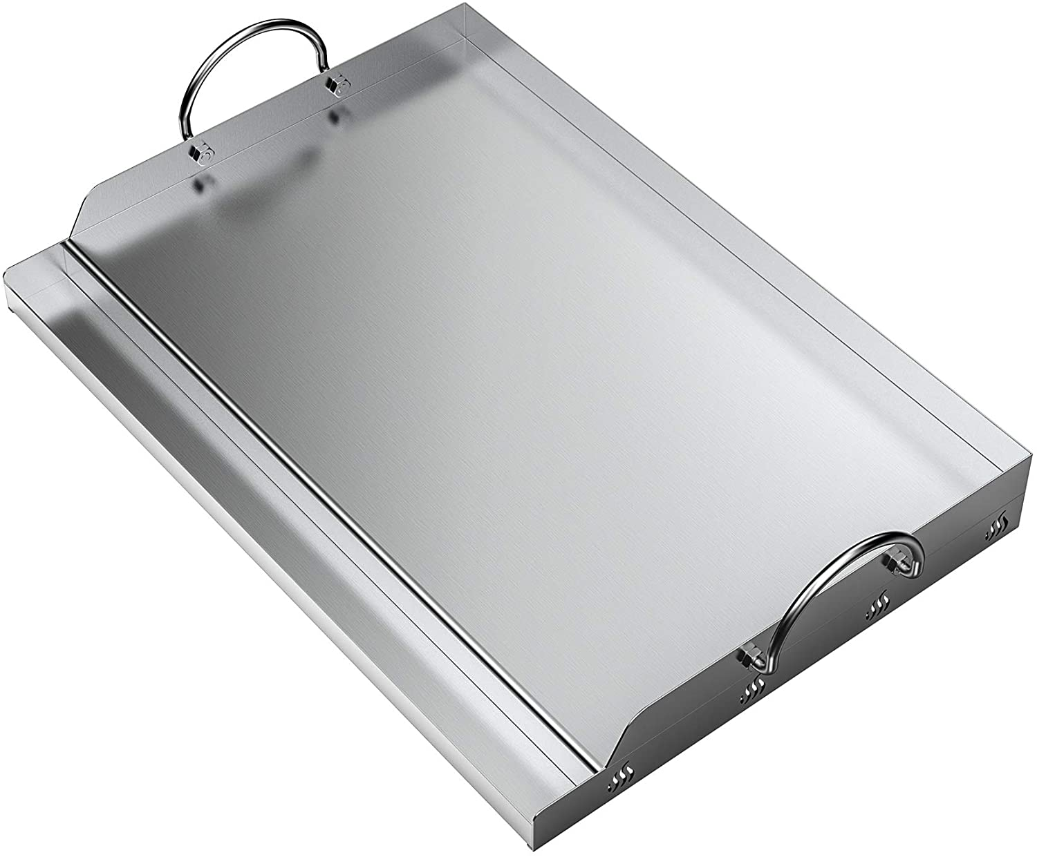 """only fire Universal Stainless Steel Rectangular Griddle for Gas BBQ Grills, 23"""" x 16"""" : Garden & Outdoor"""