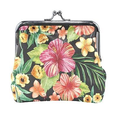 Amazon.com: Tropical Summer - Monedero pequeño de piel con ...