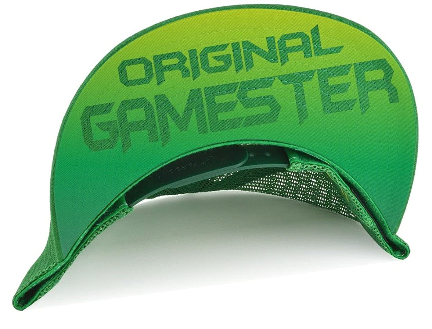 f95bf91fe39a1 Zelda Triforce Airbrushed Trucker Hat Green and Yellow + Gamertag at Amazon  Men s Clothing store