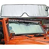Bolaxin Front Windshield Sunshade Sun shade for Jeep Wrangler JK 2007-2017