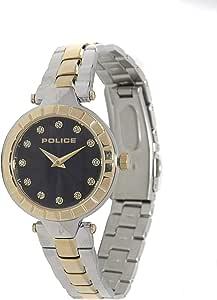 بوليس ساعة رسمية نساء انالوج بعقارب ستانلس ستيل - P 14992LSTG-D02M