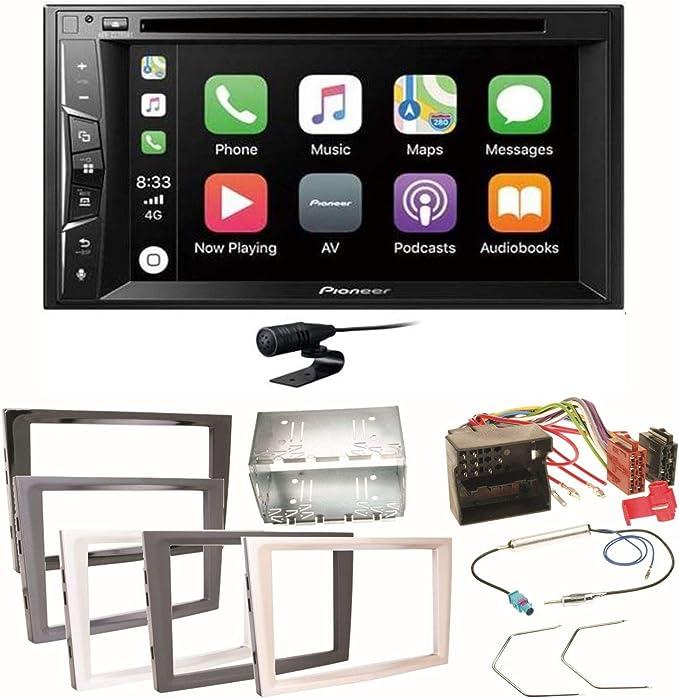 Pioneer DMH-G220BT 2-DIN Auto Radio Mediacenter Bluetooth USB AUX passend f/ür Opel Corsa D 2006-2014 matt Chrome
