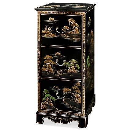 Genial Chinoiserie Scenery Design File Cabinet