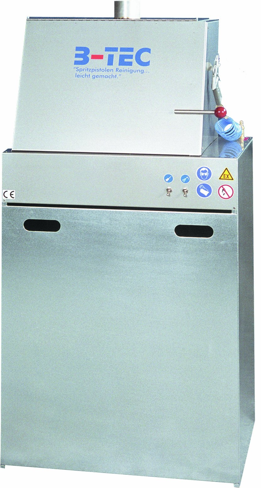 B-TEC Systems M-800 Stainless Steel Manually Junior Spray Gun Washer, 29'' Length x 23-1/2'' Width x 77'' Height,for Solvent or Water