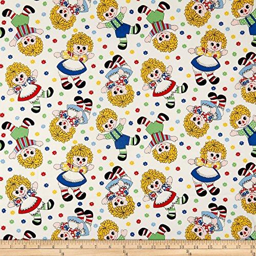 P & B Textiles Holly's Medium Dollies Multi Fabric by The Yard -  0563411
