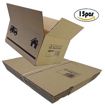 Cajas de Cartón Multiusos Pack de 15 Tamaño 300 x 200 x 150 mm - Mudanza