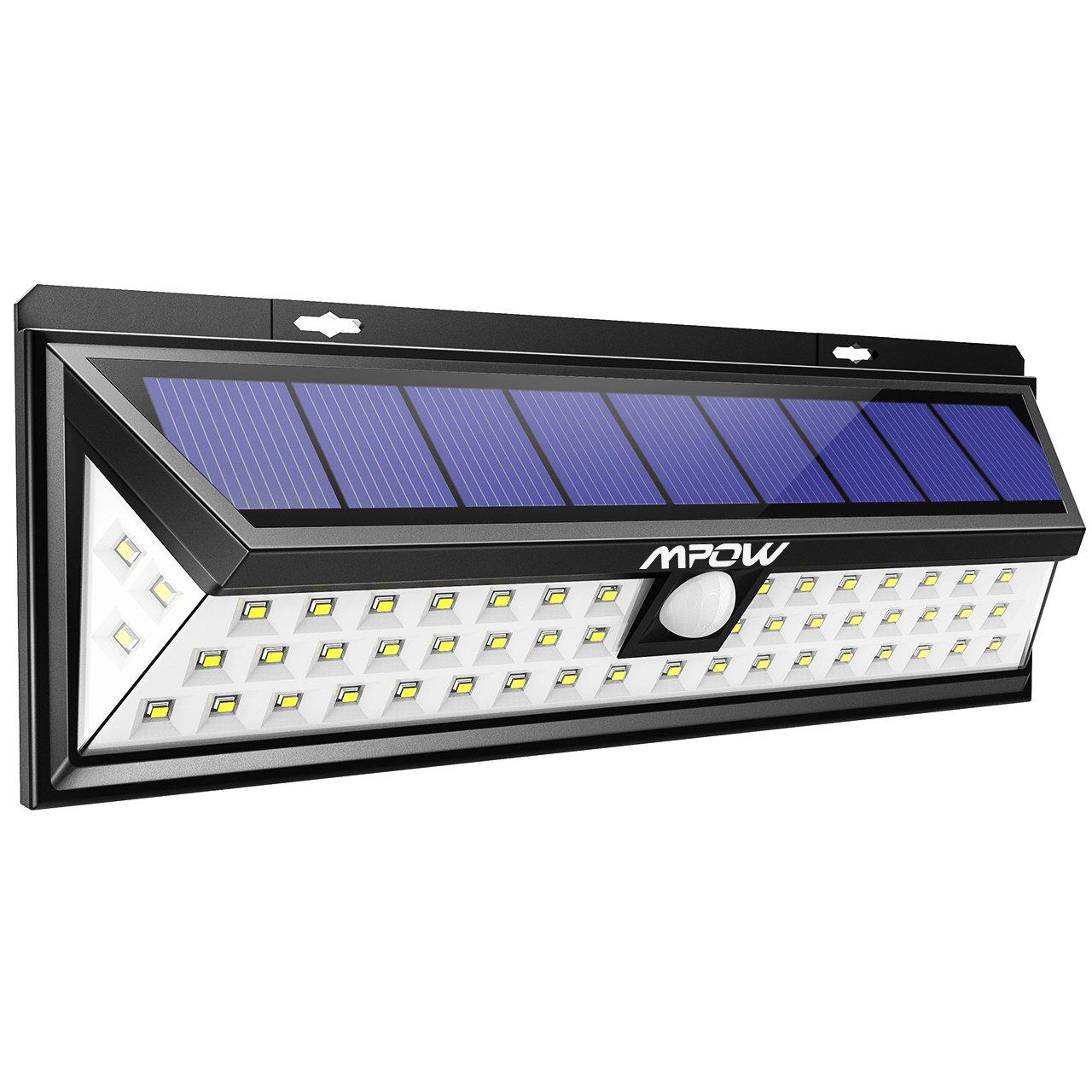 [54 LED] Mpow Lampe solaire extérieure Etanche 1188 lumens Luminaire exterieur/ Eclairage exterieur 270 ° Grand Angle reglable avec détecteur de mouvement et Paneau Solaire pour Pati, jardin, cour, chemin,escaliers, clôture product image
