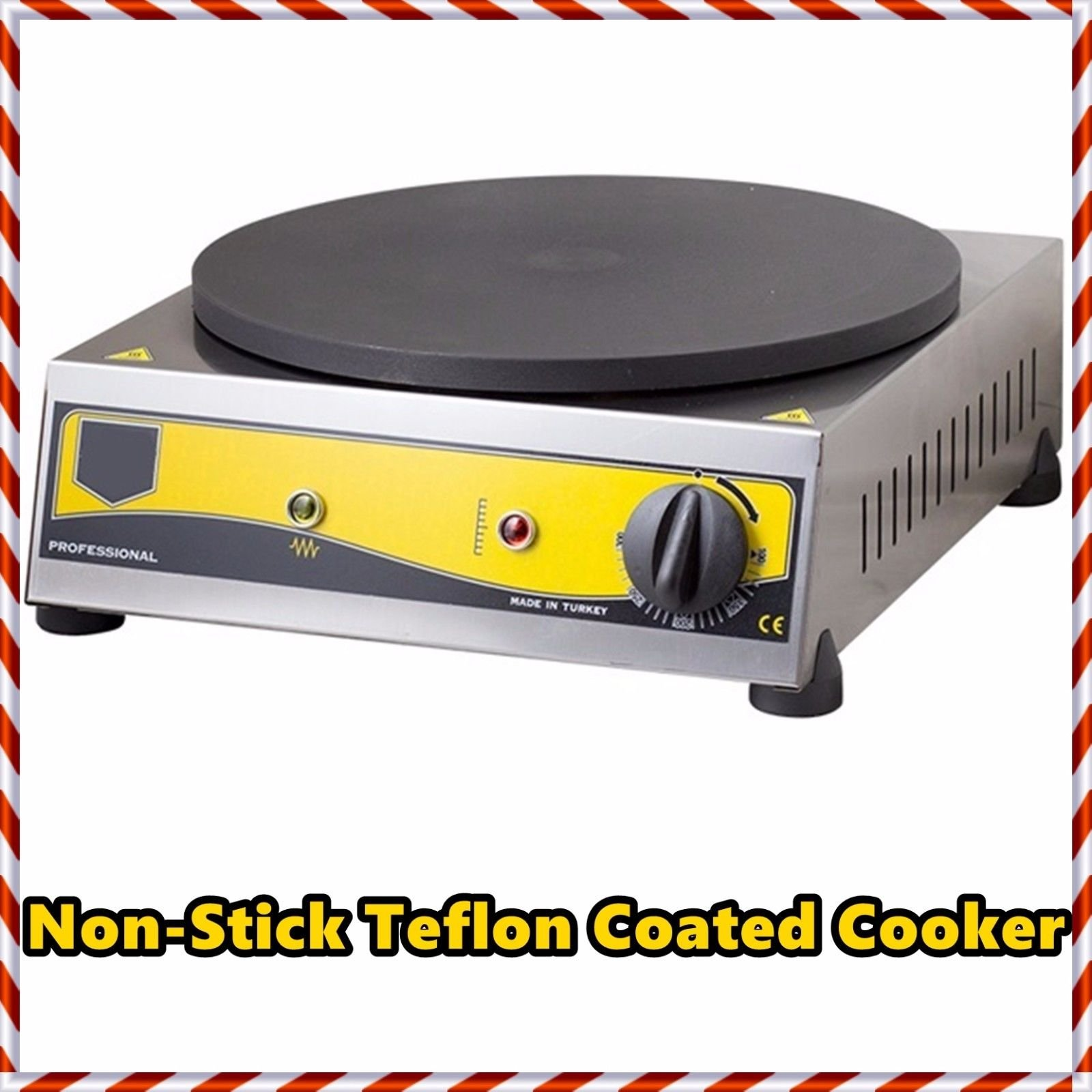 Non-Stick TEFLON COATED Electric Commercial Crepe Maker Pancake Grill Machine
