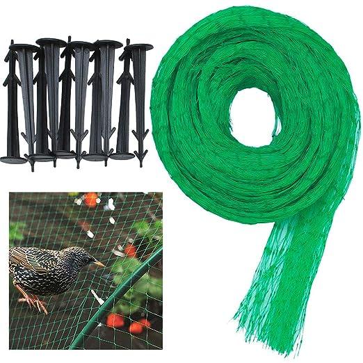 4 × 10 m Anti Bird Net Garden Plant Red de malla de malla contra ...