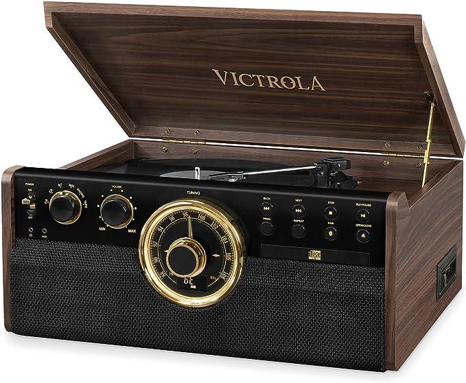Victrola Empire Sistema de Sonido Tocadiscos 6-in-1 Bluetooth ...