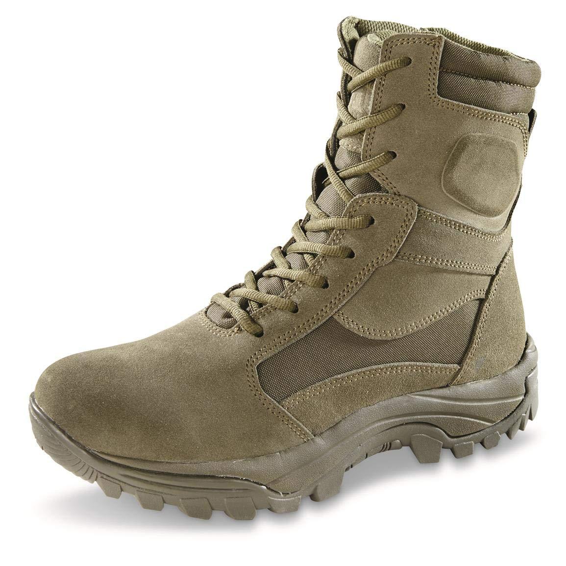 HQ ISSUE Men's Talos Waterproof 8'' Side-Zip Tactical Boots, Sage, 13D (Medium)