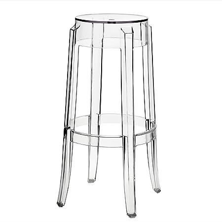 amazoncom modway philippe starck style charles ghost bar stool set of 2 kitchen u0026 dining