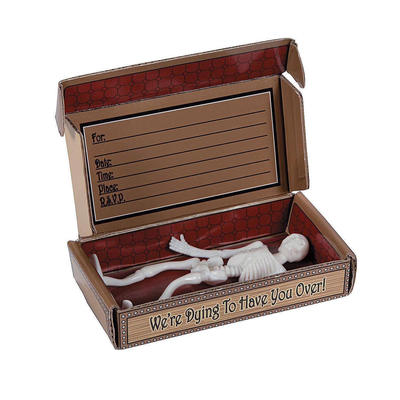 Coffin Invitations In A Box (1 dz)